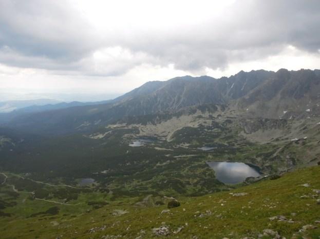 Widok z okolic Kasprowego Wierchu (brzydka pogoda) Tatry