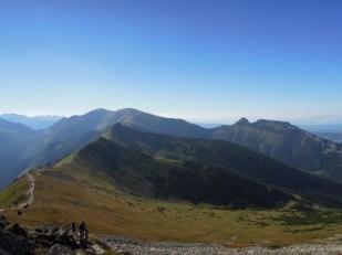 Widok z okolic Kasprowego Wierchu na Giewont Tatry