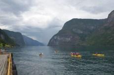 Kajaki w Aurlandsfjord Norwegia