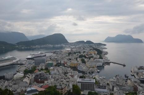 Panorama Alesund z Aksla Norwegia