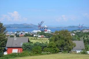 Platformy wiertnicze w Stavanger Norwegia