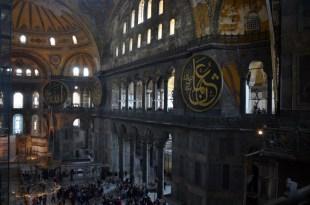 Hagia Sophia wnętrze Stambuł Turcja