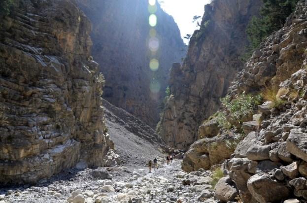 Wzdłuż wąwozu Samaria Kreta