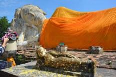 Ayutthaya Wat Lokayasutharam Tajlandia
