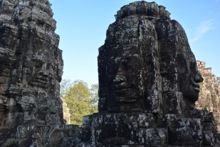 Bayon z bliska Kambodża