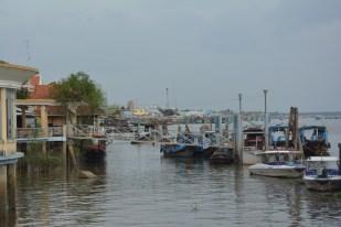 Delta Mekongu przystań w My Tho Wietnam