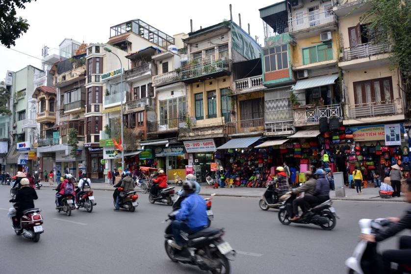 Hanoi francuskie kamiennice w Starej Dzielnicy Wietnam