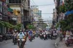 Sajgon ruch uliczny w dzielnicy Cholon Wietnam
