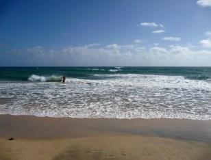 Kąpiel w oceanie Fuerteventura