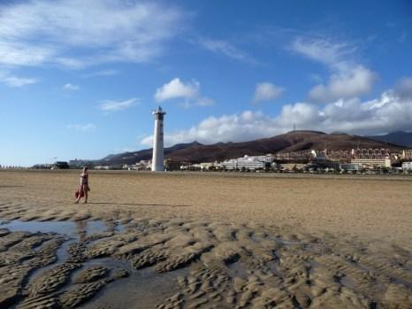 Spacer na plaży Fuerteventura
