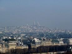 Panorama Montmartre z Wieży Eiffla Paryż