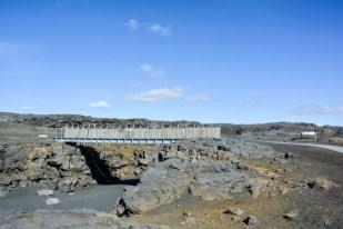 Most między dwoma kontynentami Islandia