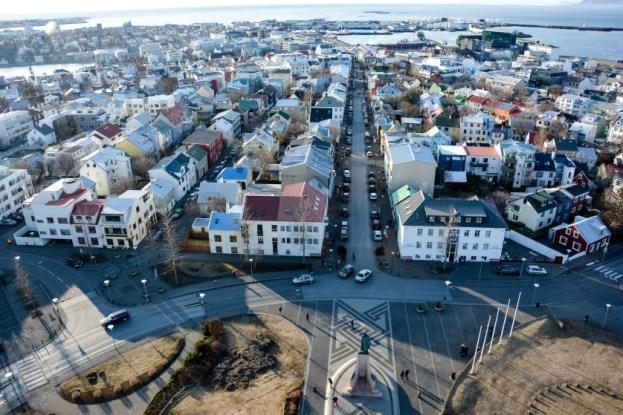 Panorama Reykjaviku Islandia