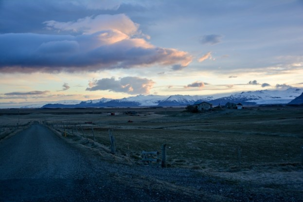 Panorama jęzorów lodowca Vatnajokull z okolicy Hofn Islandia