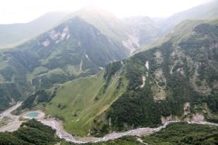 Panorama z Przełęczy Krzyżowej Gruzja