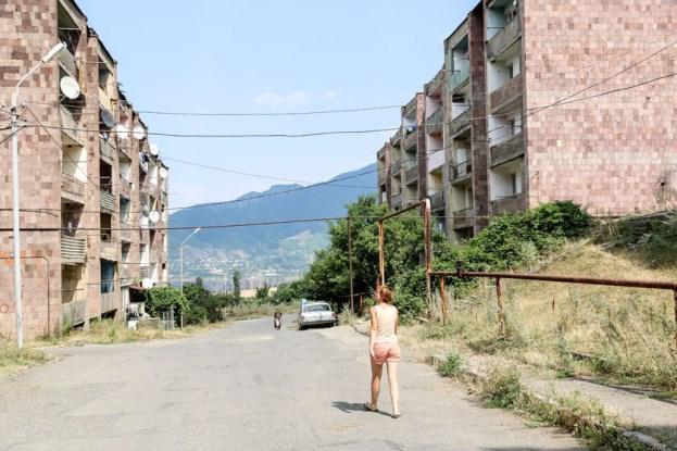 Postkomunistyczne bloki w Sanahin Armenia