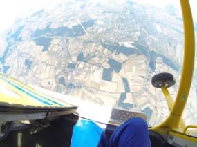 Widok przed skokiem spadochronowym