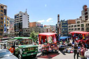 Chaos na ulicach w La Paz Boliwia