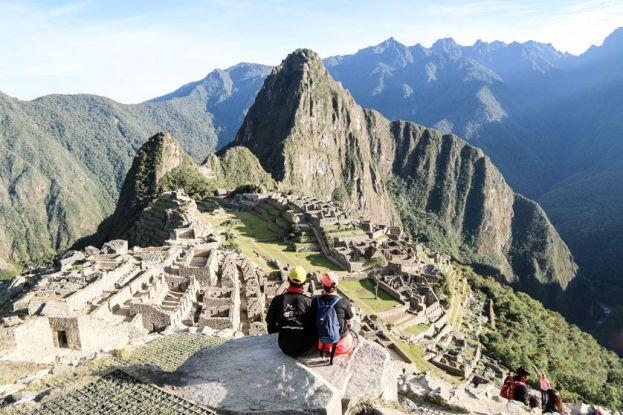 Machu Picchu widok z wieży strażniczej Peru