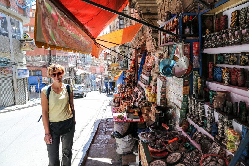 Targ czarownic La Paz Boliwia