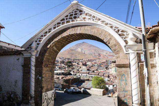 Widok na kopalnie srebra Potosi Boliwia