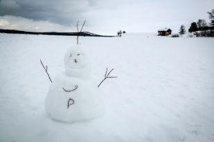 Na zamarzniętym jeziorze Inari Finlandia