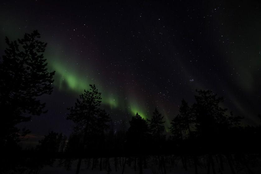 Zorza polarna Finlandia 2