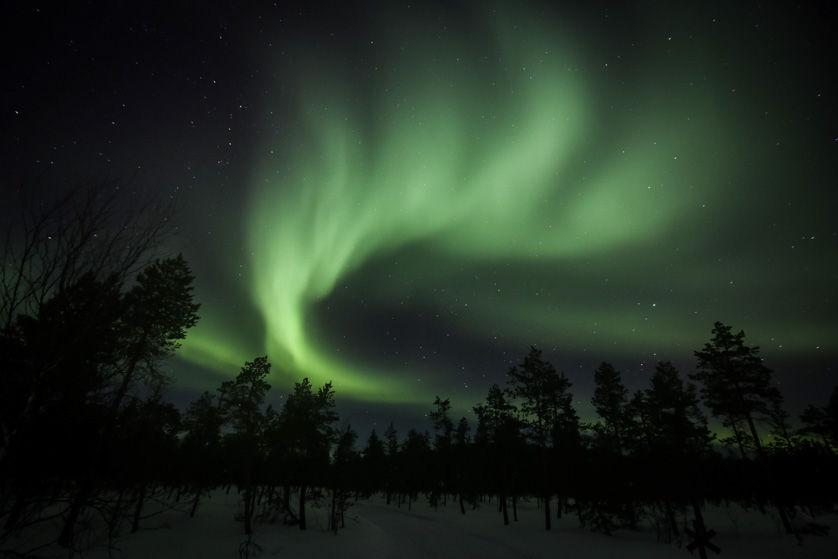 Zorza polarna Finlandia 6