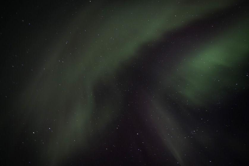 Zorza polarna Finlandia nad naszymi głowami
