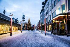 Główny deptak w Rovaniemi Finlandia