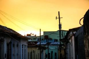 Zachód słońca Trinidad Kuba