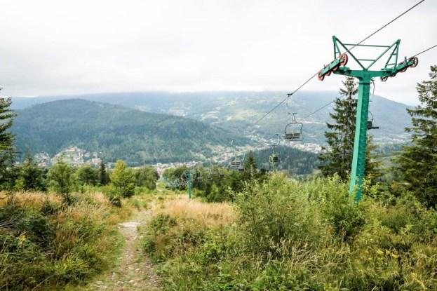 Panorama Szczyrku w drodze na Skrzyczne