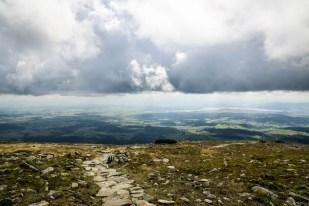 Panorama z Babiej Góry na część południow-wschodnią