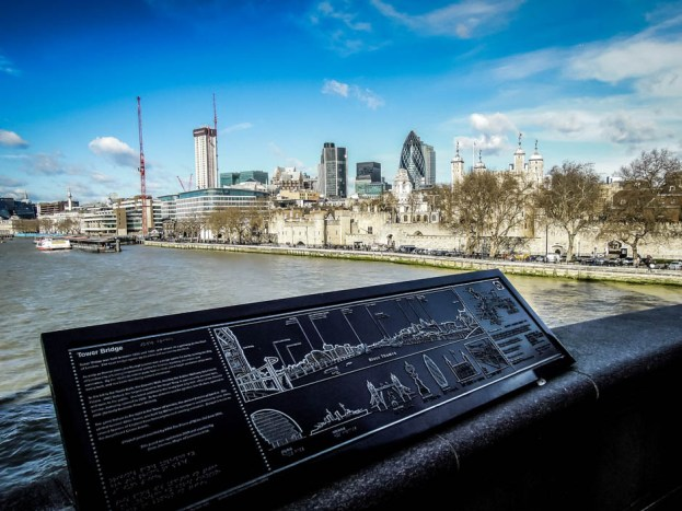 Panorama z Tower Bridge Londyn