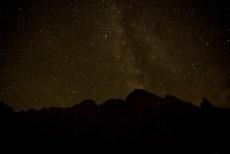 Gwiazdy i Droga Mleczna w okolicy Morskiego Oka