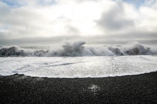 Islandia Reynisfjara fale