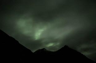 Islandia zimą zorza polarna