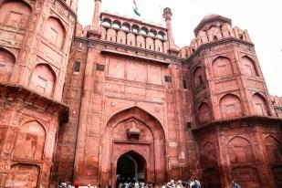 Indie Delhi Red Fort brama Lahori