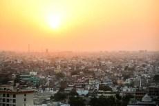 Indie Jaipur panorama z Monkey Temple