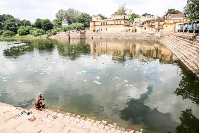 Indie Khajuraho jezioro