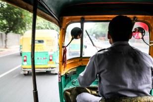 Indie New Delhi jazda tuk-tukiem