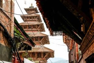 Nepal Bhaktaphur wysokie świątynie