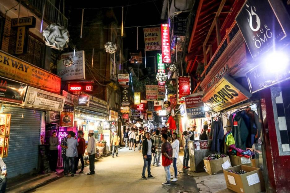 Nepal Kathamandu dzielnica Thamel