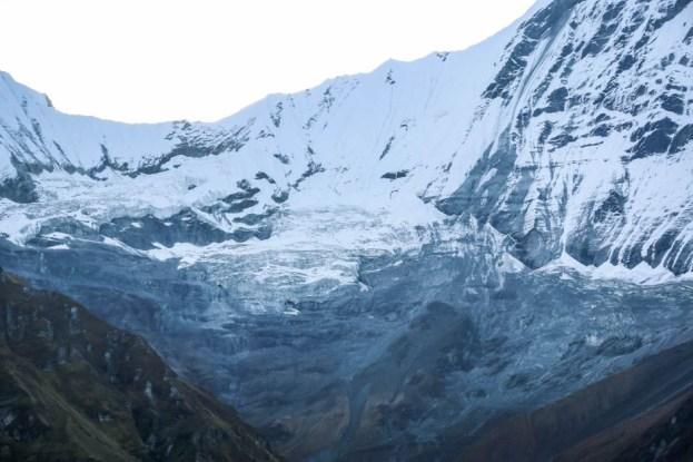 Nepal lodowiec Machhapuchhare