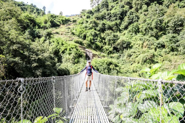 Nepal trekking do ABC most za Chhomrong 2
