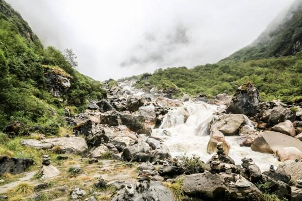 Nepal trekking do ABC potok