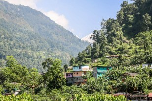 Nepal trekking do ABC wioska Nayapul