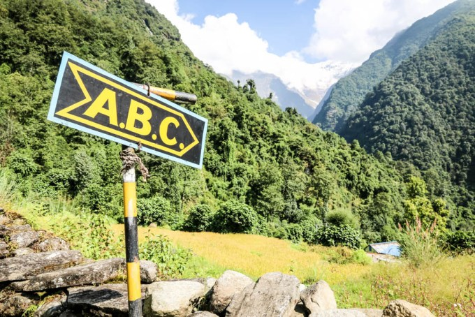 Nepal trekking szlak do ABC