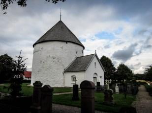 Bornholm kościół rotundowy w Nylars w środku