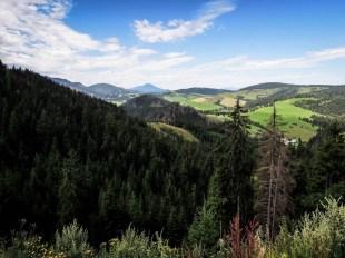 Wycieczka rowerowa wokół Tatr - Tatry Zachodnie panorama